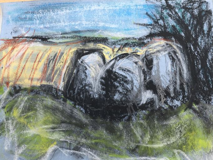 200817 - Coldrum Long Barrow - facing east